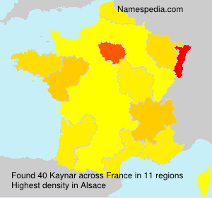 Surname Kaynar in France