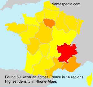 Surname Kazarian in France