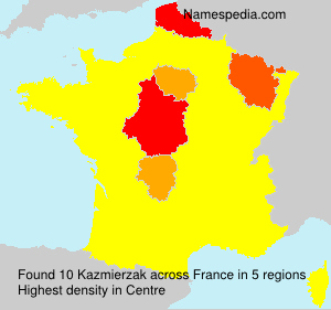 Surname Kazmierzak in France