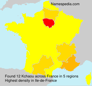Surname Kchaou in France