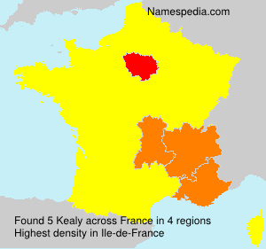 Surname Kealy in France