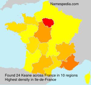 Surname Keane in France