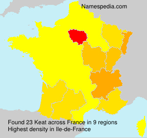 Surname Keat in France