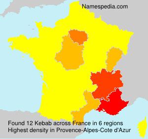 Surname Kebab in France