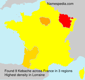 Surname Kebache in France
