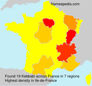 Surname Kebbabi in France