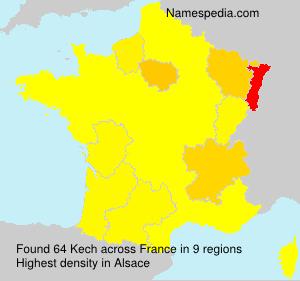 Surname Kech in France