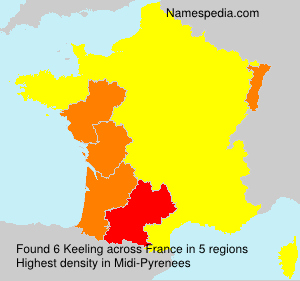 Surname Keeling in France