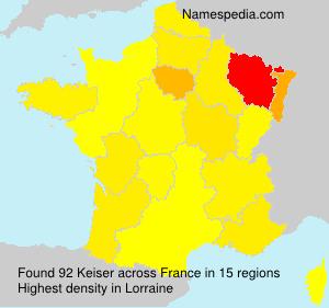 Surname Keiser in France