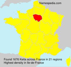 Surname Keita in France