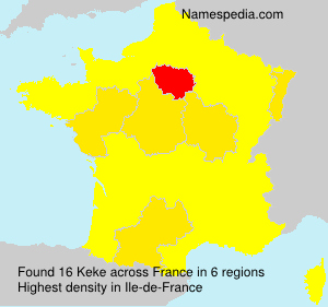 Surname Keke in France
