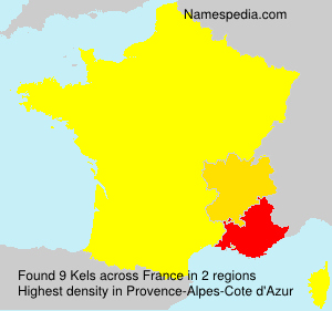 Surname Kels in France