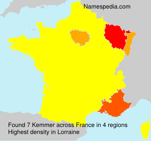 Surname Kemmer in France
