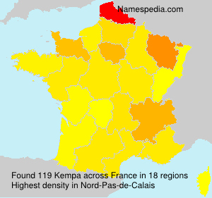 Surname Kempa in France