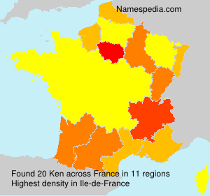 Surname Ken in France