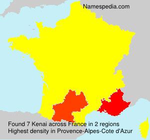 Surname Kenai in France