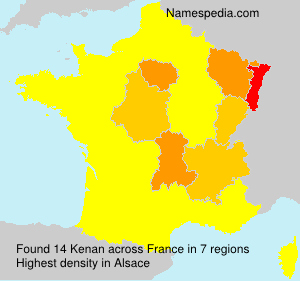 Surname Kenan in France