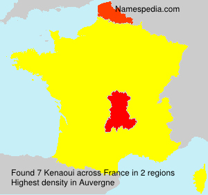 Surname Kenaoui in France