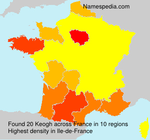 Surname Keogh in France
