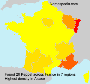 Surname Keppel in France