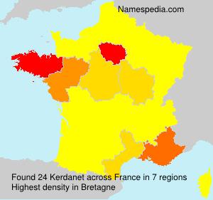 Surname Kerdanet in France