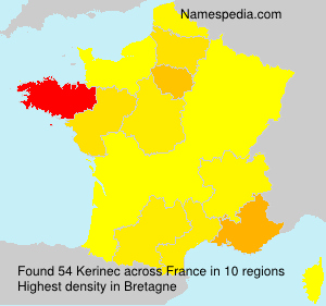 Surname Kerinec in France