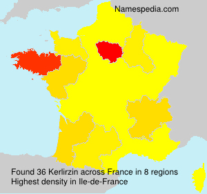 Surname Kerlirzin in France