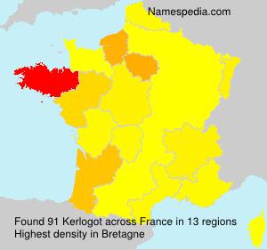 Familiennamen Kerlogot - France