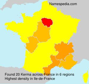 Surname Kerma in France