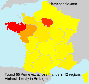 Surname Kernevez in France