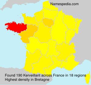 Surname Kerveillant in France