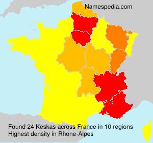 Surname Keskas in France
