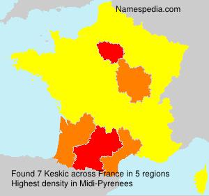 Surname Keskic in France