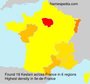 Surname Keslani in France