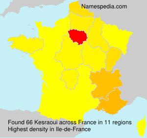 Surname Kesraoui in France