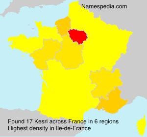 Surname Kesri in France