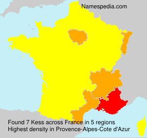 Surname Kess in France