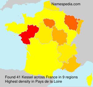 Surname Kessel in France