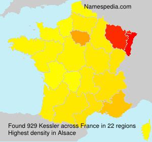 Surname Kessler in France