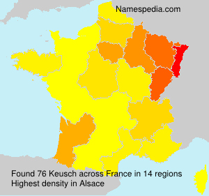 Surname Keusch in France