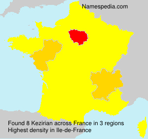 Surname Kezirian in France