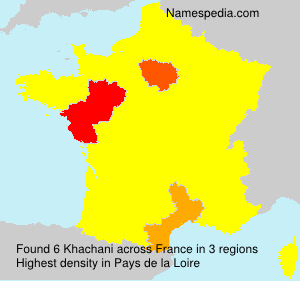 Surname Khachani in France