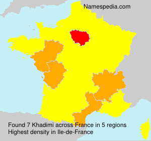 Surname Khadimi in France