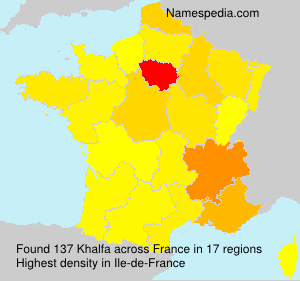 Surname Khalfa in France