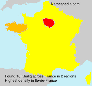 Surname Khaliq in France