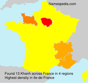 Surname Khanh in France