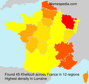 Surname Khelloufi in France