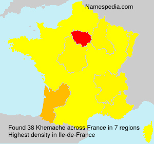 Surname Khemache in France