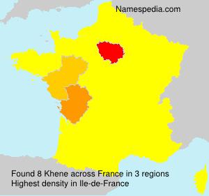 Surname Khene in France
