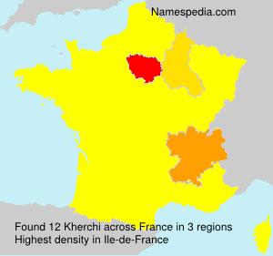 Surname Kherchi in France